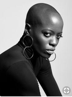 beautiful black women models in bathing suits Beautiful Oops, Beautiful Black Women, Big Chop, Skin Girl, New Hair Growth, Bald Women, Shaved Head, The Bikini, Black Women Hairstyles