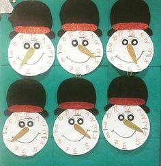 Winter craft and project idea for preschoolers Winter Craft, Project Ideas, Projects, School Ideas, Art Ideas, Homeschool, Clock, Crafts, Decor