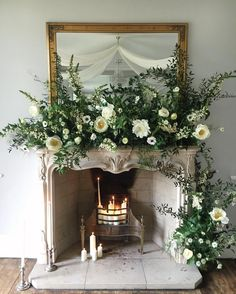 I just adore the mantelpiece design at the @tallulahroseflowerschool Wedding Flowers Retreat... #tallulahroseretreat #underthefloralspell