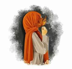Uploaded by princess Rose. Find images and videos on We Heart It - the app to get lost in what you love. Art Anime Fille, Anime Art Girl, Girl Cartoon, Cartoon Art, Hijab Drawing, Alone Art, Islamic Cartoon, Flower Phone Wallpaper, Anime Muslim