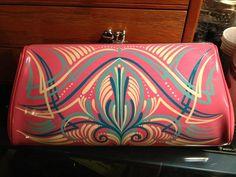 Custom pinstriped purse!