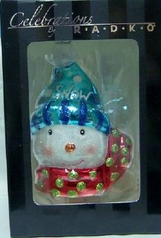 Radko Snowman Celebrations Christmas Ornament New $19.99