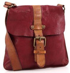 ~~Campomaggi Lavaggio Stone Cross Body Bag Red Leather~~