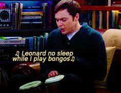 ♫Hello Leonard, do you like my bongos? Bet you didn't know that I had bongos.♫ gif