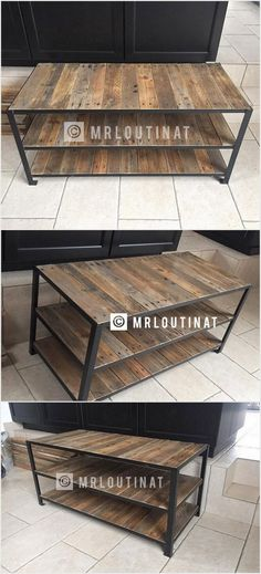 To add something really useful in the wood pallet designs of table, this idea stands out to be the best one for you. This wood pallet table has been centered around with the creative three portions of the shelves that end this whole project even much more attractive. You can make this wood pallet table as part of your living room easily.