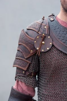 Brown leather armor