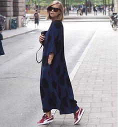 Marimekko Kaftan, cozy look for fall
