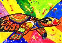 Turtle Pop Art by Fine Artist Julia Apostolova This image is a print of original SOLD Acrylic Hand Made Pop Art ''Turtle''. The original Contemporary Pop Art modern painting is painted on gallery wrapped acid free canvas. Only fine quality art materials have been used. Final coat of fine art varnish was applied to preserve your investment against UV and dust. Signed and dated by the artist.The original Pop Art ''Turtle'' has been sold, but Similar Painting Can Be Recreated.