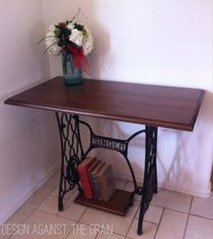 Custom Singer Sewing Base Table- Repurposed Sewing Table on Etsy, $325.00