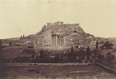 Athènes, l'Acropole avec le temple de Jupiter james robertson