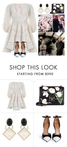 Harry Potter Weddings #5 Bill & Fleur by leah1992 on Polyvore featuring Zimmermann, Givenchy, Dolce&Gabbana, Marni, wedding, fleurdelacour, billweasley and billfleur