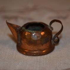 Miniature Copper Teapot 1930s Mini by ShellysSelectSalvage on Etsy