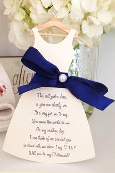 creative way to ask your bridesmaids #saphireeventgroup #willyoubemybridesmaid #poem