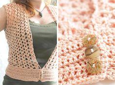 little Z handmade: Zelf maken: Gehaakt topje van roze katoen
