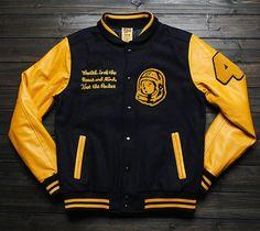 BILLIONAIRE BOYS CLUB JACKET Letterman Jackets, Varsity Jackets, Men's Jacket, Bomber Jacket, Estilo Street, Urban Fashion, Mens Fashion, Stylish Man, Billionaire Boys Club