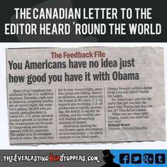 'You Americans Have No Idea…' - Another Open Letter, This Time From Canada & This One Hurts