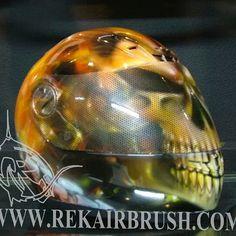 Rekairbrush Custom Airbrushed Motorcycle Helmet 454