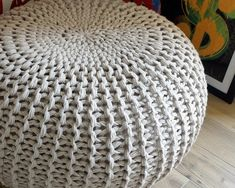 This KNITTING PATTERN Knitted Pouf Pattern Poof Knitting Ottoman Footstool Home Decor Pillow Bean Bag, Pouffe, Floor cushion Medium and Large is just one of the custom, handmade pieces you'll find in our patterns & blueprints shops.In this pattern, I desc Crochet Pouf Pattern, Crochet Hooks, Christmas Knitting Patterns, Knit Patterns, Universal Yarn, Paintbox Yarn, Arm Knitting, Beginner Knitting, Red Heart Yarn