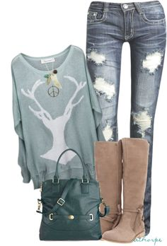 """Antlers"" created by athorpe on polyvore."