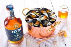 IRISH PAIRING: Hyde & Mussels!  #Irish #pure #simple #natural  #irishwhiskey #hydewhiskey #singlemalt #awardwinning #irishfood