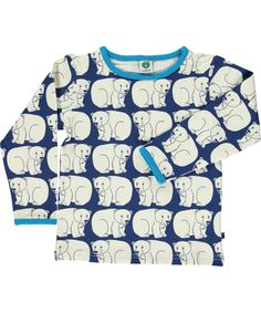 Småfolk gorgeous blue t-shirt with polar bears. Long sleeve from Småfolk for boys and girls. Childrens clothes t-shirts & tops. Long Sleeve Tops, Long Sleeve Shirts, Kids Outfits, Cute Outfits, Girl Scout Crafts, Smart Outfit, Little People, Business Fashion, Baby Love
