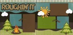 cricut scrapbook layouts    Scrapbook Cricut Layouts / Roughin' It Page Kit