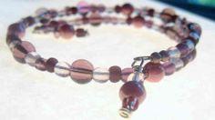 Pulsera púrpura del grano del encanto - Catherinerussel.com