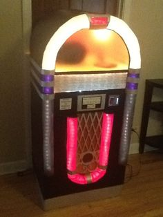 jukebox made from cardboard box