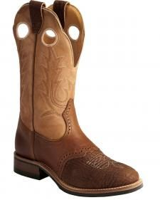 Boulet Apache Whaler Buckskin Cowgirl Boots - Round Toe