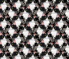 ash, the floof king fabric by hannafate on Spoonflower - custom fabric