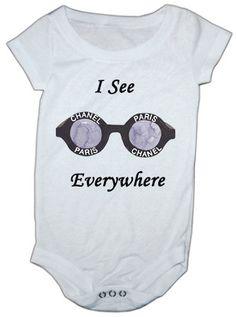 Chanel Sunglasses Inspired baby onesie by LuluBellababyTrends, $16.99