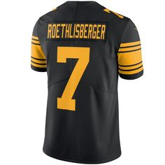 Ben Roethlisberger Steelers Jersey Ben Roethlisberger Pittsburgh Steelers Men's Black Stitched Limited Jersey by Nike Pro Image Sports at Mall of America Ben Roethlisberger, Thursday Night Football, Color Rush, Nike Nfl, Nfl Jerseys, Pittsburgh Steelers, Sports Fan Shop, Baby Clothes Shops, Trendy Plus Size