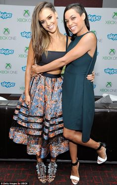 Friends and co-stars: Jessica Alba pictured here with Rosario Dawson who she stars with in Sin City
