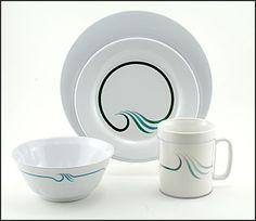 Wave Melamine Dinnerware  sc 1 st  Pinterest & Black Thorn Square Melamine Dinnerware Set - Buy Square Dinnerware ...