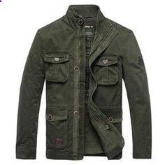 AFS JEEP Male Jacket Men Jackets Coat Windbreaker Jacket Trench Coat Stand Collar Casual Autumn