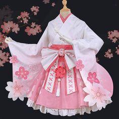 [Reservation]Sweet Sakura Cosplay Kimono Dress – SpreePicky Source by xantheagavino japoneses Anime Cosplay Costumes, Cosplay Dress, Cosplay Outfits, Anime Outfits, Harajuku Fashion, Kawaii Fashion, Lolita Fashion, Cute Fashion, Fashion Outfits