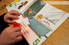 Finger Beams...little flashlights to help motivate struggling readers to follow along...I love this!