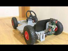 DIY Drill powered Go Kart - YouTube