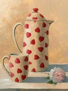 Heart tea art