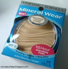 Nouveau Cheap: Review: Physicians Formula Mineral Wear Airbrushing Pressed Powder SPF30