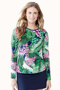 02425585e3f6b Women's Cover-up Tops Swimsuit Cover-ups & Rash Guards from Lands ...