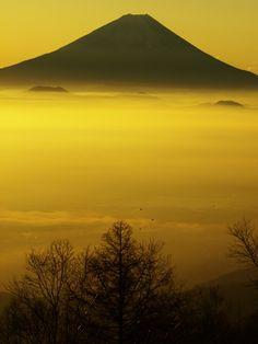 金色の夜明け | 自然・風景 > 山の写真 | GANREF                                                                                                                                                                                 もっと見る
