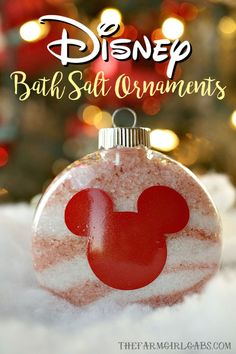 Give the gift of pampering the Christmas. These Disney Bath Salt Ornaments are the perfect self-care gift idea for the Disney fan on your gift list. #Christmas #Crafts #EssentialOils #Disney #DisneyCraft #WaltDisneyWorld #Ornaments #DIY #DisneyOrnament