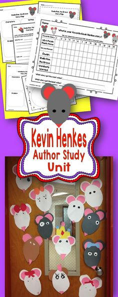 Kevin Henkes author study and craft!  Lilly, Wemberly, Owen, Chrysanthemum… $