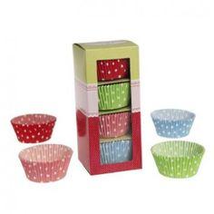 Selection Box of 100 Retro Polkadot Cake Cases - Tableware & Invitations - Partyware