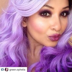 Loving this bright look created using our Honeybee Gardens Party Girl Eye palette called Party Girl. Shades used: Velour (dark purple) and Cupcake (a really really light purple).