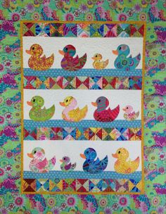 JUST DUCKY Baby Quilt Kit Kaffe Fassett by SewColorfulQuilts