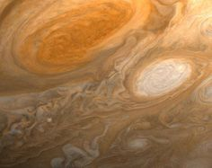 Jupiter's Great Red Spot  Before Voyager 1 left the inner solar system and photographed the Pale Blue Dot, the spacecraft's primary mission was to photograph Saturn, Jupiter and the two planets' moons. This image was taken on February 25th, 1979, and shows the swirling drama of an anticyclonic storm on Jupiter's southern hemisphere, the planet's famous Great Red Spot.