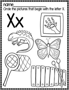 This has 20 pages of resources to help your littles learn the letter X. These unique pages are fun, engaging, hands on and have endless possibilities. Alphabet Writing, Learning The Alphabet, Pre Writing, Alphabet Sounds, Preschool Craft Activities, Preschool Education, Preschool Worksheets, Nursery Worksheets, Alphabet Worksheets