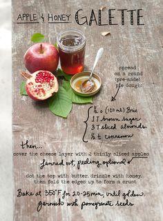 apple & honey galette